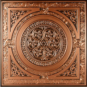 Messina Ceiling Tile - Antique Copper