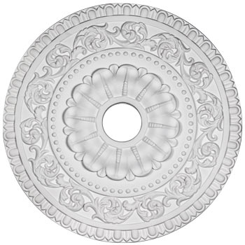 white - Ceiling Medallion