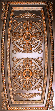 Valencia Ceiling Tile - Antique Copper 2x4