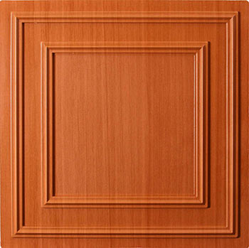 Cambridge Ceiling Tile - Caramel Wood