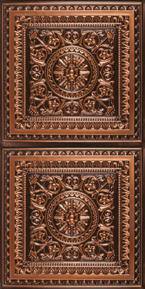 Milan Ceiling Tile - Antique Copper 2x4