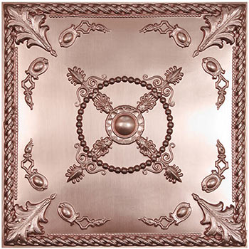 Alexander Ceiling Tile - Faux Copper