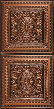 milan ceiling tile antique copper 2x4