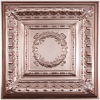 Empire Ceiling Tile - Faux Copper