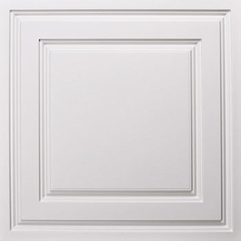 Oxford Ceiling Tile - White
