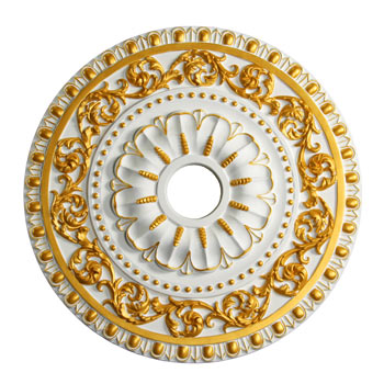 MD-7047 Gold Highlight Ceiling Medallion