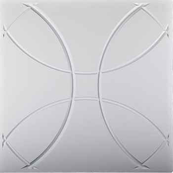Orb Ceiling Tile - White