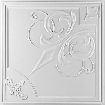 Paris Ceiling Tile - White