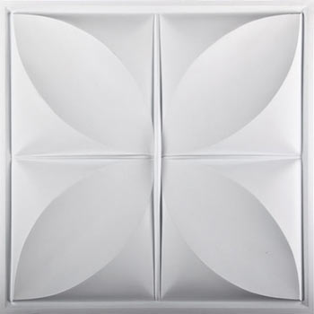Petal Ceiling Tile - White