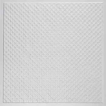 Rattan Ceiling Tile - White