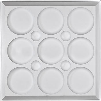 Roman Circle Ceiling Tile - White
