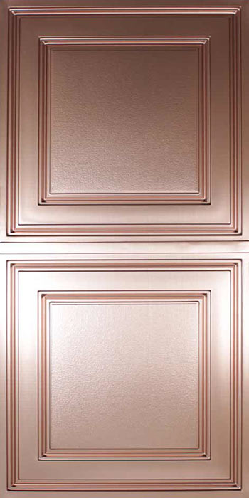 Stratford Vinyl Ceiling Tile - Faux Copper (2x4)