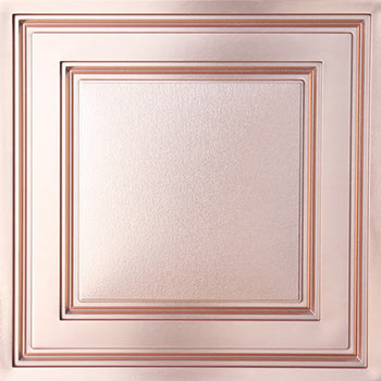 Stratford Vinyl Ceiling Tile - Faux Copper