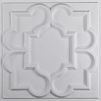 Victorian Ceiling Tile - White