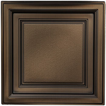 Westminster Ceiling Tile - Faux Bronze